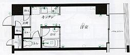 仙台リエゾン 5階ワンルームの間取り