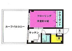 メナー昭島[405号室]の間取り