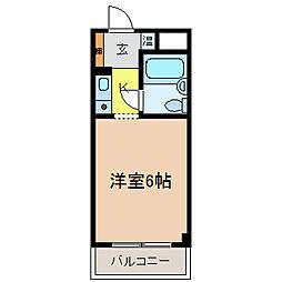 大阪府河内長野市菊水町の賃貸マンションの間取り