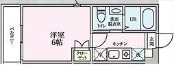 相鉄本線 西谷駅 徒歩22分の賃貸アパート 1階1Kの間取り