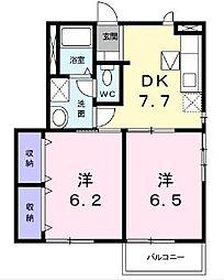プルミエールクラスII[1階]の間取り