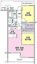 ホーフ横浜旭ヶ丘[1階]の間取り