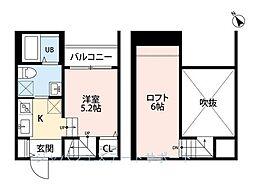 プレジール南福岡[102号室]の間取り
