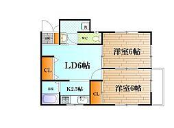 堀江アパート[1階号室]の間取り