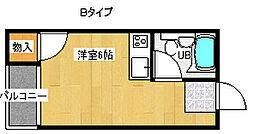 タカハシマンション[3階]の間取り