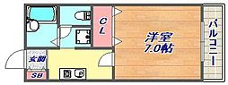 サンハイツ岡本[2階]の間取り
