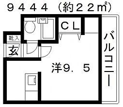 ネオシティ藤井寺[302号室号室]の間取り