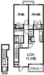 feel・大塚 B棟[2階]の間取り