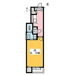 フレッサ中郷[1階]の間取り