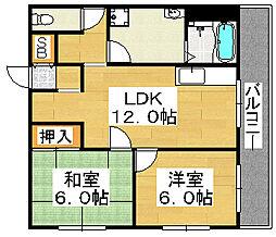 アーバニティ香ケ丘[3階]の間取り