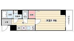 京都府京都市上京区五番町の賃貸マンションの間取り