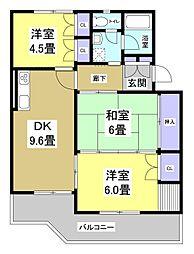 サニーハイツTOKAI[2階]の間取り