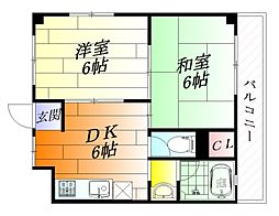 TKハイツ[3階]の間取り