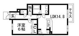 滋賀県野洲市野洲の賃貸アパートの間取り