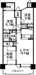 メゾンドールラーバン和泉II番館[7階]の間取り