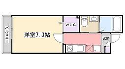 THYME TSUDANUMA[102号室]の間取り