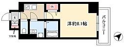 エスリード名古屋東別院 5階1Kの間取り