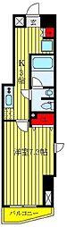 メイクスデザイン板橋本町II 5階1Kの間取り