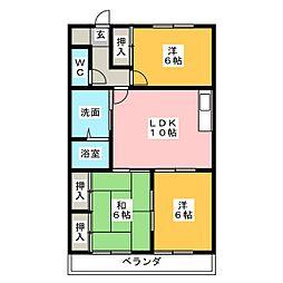 レヂデンス林島[4階]の間取り