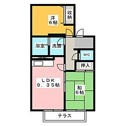 サンモール宝地[2階]の間取り