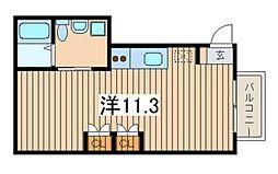 ベルテ36[1階]の間取り