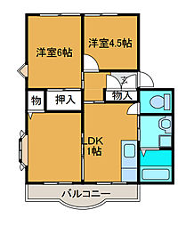 ウィンディアM5[1階]の間取り