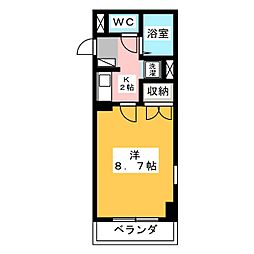 エルム元城[4階]の間取り