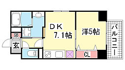 JEUNESSE北野[3B号室]の間取り
