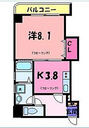 東京都台東区駒形2丁目の賃貸マンションの間取り