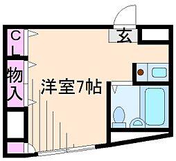 神奈川県横浜市港北区綱島台の賃貸マンションの間取り