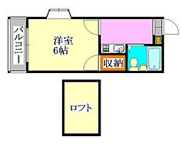 マ・メゾン津田沼[105号室]の間取り