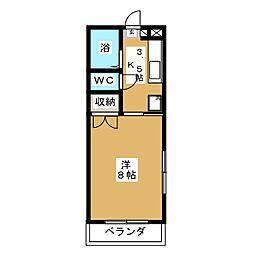アークハイツ富田町[5階]の間取り
