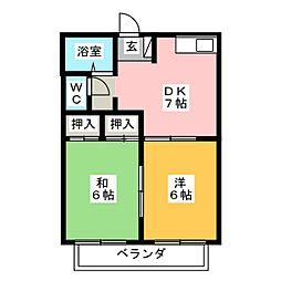 ラ セジュール[2階]の間取り