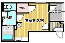 兵庫県西宮市鳴尾町2丁目の賃貸アパートの間取り