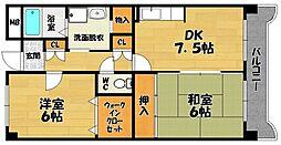 メゾンリバーサイド1[3階]の間取り
