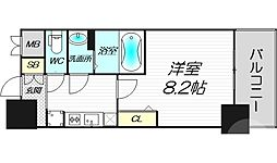 プレサンス心斎橋ソレイユ 3階1Kの間取り