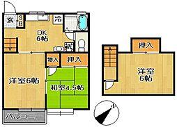 千葉県柏市豊四季の賃貸アパートの間取り
