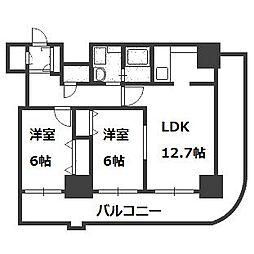 ティアラタワー中島倶楽部(III)[25階]の間取り