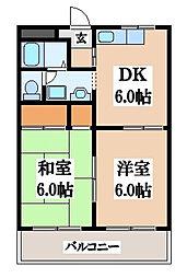 第2旭永コーポ[3階]の間取り