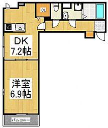 クレメントI[3階]の間取り