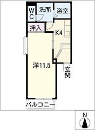 ボヌール栄[2階]の間取り