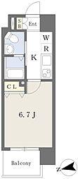 西田辺駅 徒歩2分2階Fの間取り画像