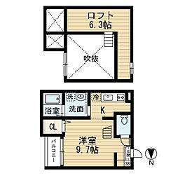 愛知県名古屋市南区三吉町1丁目の賃貸アパートの間取り