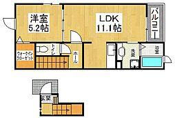 深野3丁目アパート[1階]の間取り