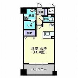 松山ウェスティン[803 号室号室]の間取り