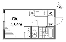 グランエッグス東新宿[102号室号室]の間取り