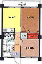井口マンション[3階]の間取り