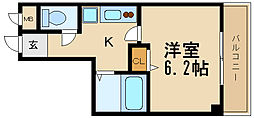 兵庫県伊丹市伊丹3丁目の賃貸マンションの間取り