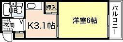 SS江波ビル[2階]の間取り