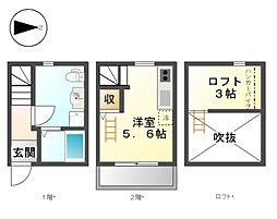 サクラ白鳥(Sakura白鳥[1階]の間取り